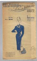 Robe Manteau Asymétrique En Lainage Bleu Marine Les Patrons Sélectionnés De La Mode Parisienne Année 1930 - Patrons