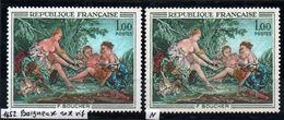 YT N° 1652 - Baigneuses Rose + Normal - Neufs ** - Variedades Y Curiosidades