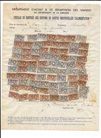 GIRONDE GROUPEMENT D ACHAT ET DE REPARTITION DES VIANDES - COUPONS CARTES INDIVIDUELLES ALIMENTATION 1945 - 1939-45