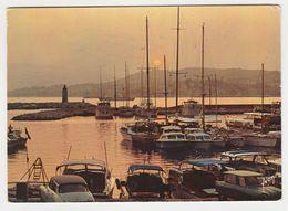 06 Cannes N°7880 Coucher De Soleil Sur Le Port Pierre Canto En 1968 Citroën DS Ami 6 Bateaux Voiliers - Cannes