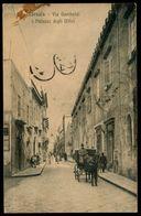 MARSALA (TP) VIA GARIBALDI E PALAZZO DEGLI UFFICI 1921 - Marsala
