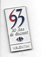 Pin's  Ville, Magasin  Centre Commercial  Carrefour  à  VALENTIN, BESANÇON  ( 25 ) - Alimentation