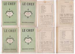 éclaireurs De France Lot 4 Revues Le Chef   1947 - Pfadfinder-Bewegung