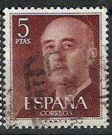 ESPAÑA SEGUNDO CENTENARIO USADO Nº 1291 (0) 5P CASTAÑO FRANCO - 1931-Oggi: 2. Rep. - ... Juan Carlos I