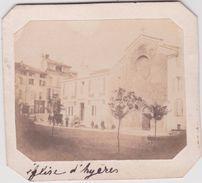 Vieux Papier:  Petite Photo  Sur  Carton :  église   D  Hyeres   Var - Vieux Papiers