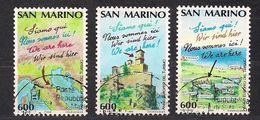 San Marino Saint-Marin  1989 Yvertn° 1229-1231 (°) Oblitéré Cancelled Cote 3,00  € - Saint-Marin
