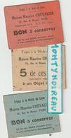 V P   BRU 14:  Ticket  :  FLERS , Rue De  Messei  , Orne , Tripes à La  Mode  De  Caen  Lot De 3 ! - Tickets D'entrée