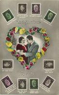 AK Philatelie Briefmarkensprache Color NPG ~1930 #08 - Timbres (représentations)