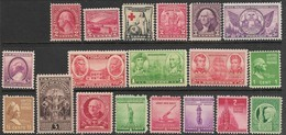 US  1923-43  19 Diff MNH   2016 Scott Value $8.55 - Air Mail