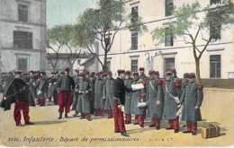 MILITARIA ** Lot De 4 Cartes ** ( Scènes De Casernes ) Infanterie Artillerie - Jolies CPA Colorisées - France - Militaria
