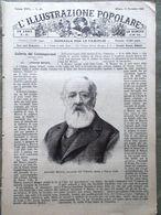 L'illustrazione Popolare 17 Novembre 1889 Torre Eiffel Morte Di Meucci Pallanza - Avant 1900