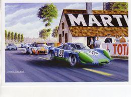 Depailler/Jabouille  -  Alpine Renault A220  -  24 Heures Du Mans 1969 -  Artwork Benoit Deliege  -   CPM - Le Mans