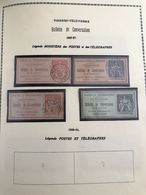 4 TIMBRES DE CONVERSATION - 1885 A 1887 : Y&T : 3 A 6 - Telegramas Y Teléfonos
