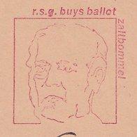 Meter Cover Netherlands 1986 Buys Ballot - Meteorologist - Chemist - Zaltbommel - Climate & Meteorology
