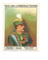 Chromo PERSE PERSIA IRAN RIZA SHAH PAHLAVI TB 68 X 50 1936s Pub: Chocolat Pupier Didactique Au Dos 2 Scans - Sonstige