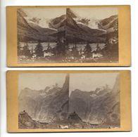 SUISSE 2 Stéréos GASTERTHAL ? PHOTO STEREO CIRCA 1860 /FREE SHIPPING R - Fotos Estereoscópicas