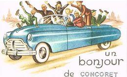 56  UN BONJOUR    DE    CONCORET   CPM  TBE  22 - France
