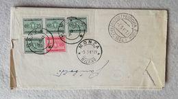 Lettera Raccomandata Comando Deposito Centrale Truppe Coloniali Napoli Per Monza 1942 - Portomarken