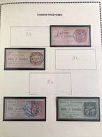4 TIMBRES DE CONVERSATION - 1885 A 1887 : Y&T : 9 + 9a + 10 + 11 - Telegramas Y Teléfonos