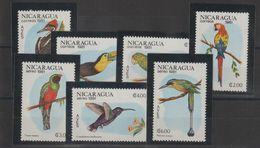 Nicaragua 1981 Oiseaux 1161-64 Et PA 966-68 7 Val ** MNH - Nicaragua