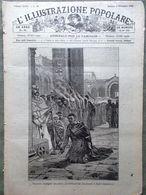 L'illustrazione Popolare 8 Dicembre 1889 Fuoco Sant'Ambrogio Canzone Napoletana - Avant 1900
