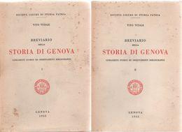 Breviario Della Storia Di Genova (2 Voll.) - Vito Vitale - Livres, BD, Revues