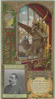 PUBLICITE   GATEAUX LU   LEFEVRE UTILE   ANTONIN MERCIE  CARTE EN RELIEF GAUFREE   DOS BLANC   FORMAT  17 X 9 Cm - Werbepostkarten