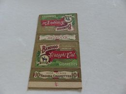 B-43, Etiquette Cigarettes USA , BENDIGO Straight Cut 10 Virginia Cigarettes - Autres