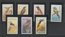 Nicaragua 1986 Oiseaux 1407-10 Et PA 1134-36 7 Val ** MNH - Nicaragua