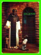 FLEURS - CARTE 3 DIMENSIONS - ST MARTIN DE PORRES - 3-D COLLECTOR SERIES - DIMENSION 12 X 16.5 Cm - - Jesus