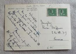 Cartolina Illustrata Da Bellano, Lago Di Como Per Venezia 1944 - Marcophilia