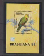Nicaragua 1989 Oiseaux BF 190 ** MNH - Nicaragua