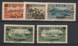 Alaouites - 1926-28 - N°Yv. 35 à 40 - Série Complète Sauf 37 - Neuf Luxe ** / MNH / Postfrisch - Alevieten (1923-1930)