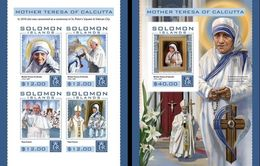 Salomon 2016, Mother Teresa, Pope Francis And J. Paul II, 4val In BF +BF IMPERFORATED - Mère Teresa