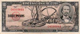 CUBA  10 PESOS  1956  P-88a   XF++ - Cuba