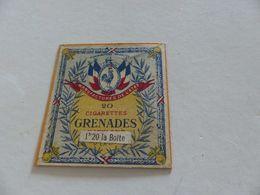 B-46, Etiquette Cigarettes, Tabacs  ,  20 Cigarettes GRENADES MARYLAND, 1F20 La Boite - Around Cigarettes