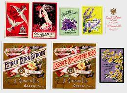 15 ETIQUETTES DE  PARFUM  GIRAURD  GRASSE  PARIS  N1 - Etichette