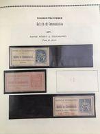 3 TIMBRES DE COMMUNIATION - 1897 : Y&T : 16 A 21 - Telegramas Y Teléfonos