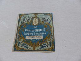 B-50, Etiquette Cigarettes, Tabacs  , 20 Cigarettes Grenades Caporal Supérieur , 1F20 La Boite - Autres