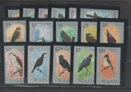 Sainte Lucie 1976 Oiseaux 386-401 16 Val * Charn - St.Lucia (1979-...)