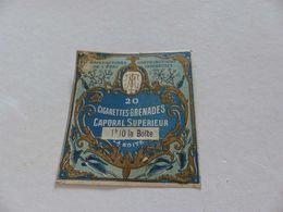 B-51, Etiquette Cigarettes, Tabacs  , 20 Cigarettes Grenades Caporal Supérieur , 1F10 La Boite - Around Cigarettes