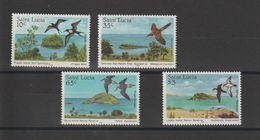 Sainte Lucie 1985 Oiseaux 759-62 4 Val ** MNH - St.Lucia (1979-...)