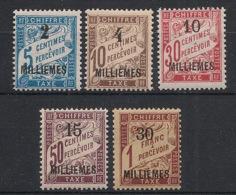 Alexandrie - 1922 - Taxe TT N°Yv. 1 à 5 - Série Complète - Neuf Luxe ** / MNH / Postfrisch - Ongebruikt
