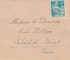 Yvert Préo 106 Sur Bande Journal Pour Directrice Ecole Publique Labastide Dénat Tarn - 1953-1960