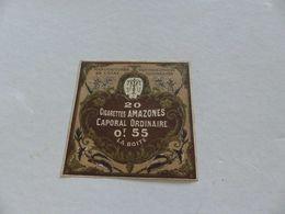 B-56, Etiquette Cigarettes, Tabacs  , 20 Cigarettes Amazones Caporal Ordinaire , 0F55 La Boite - Autres
