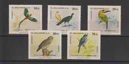 Salvador 1980 Oiseaux 875-76 Et PA 450-52 5 Val ** MNH - El Salvador