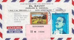 HONDURAS - AIRMAIL/RECO 1974 TEGUCIGALPA - VIENNA/AT /T201 - Honduras