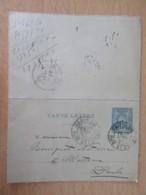 Entier / Carte-Lettre 1890 15c Sage - Paris Rue St Denis Vers Morteau - Enteros Postales
