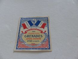 B-62, Etiquette Cigarettes, Tabacs  , 20 Cigarettes Grenades Caporal Ordinaire, 0F65 La Boite - Around Cigarettes