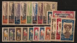 Gabon - 1924-27 - N°Yv. 88 à 107 - Série Complète - Neuf Luxe ** / MNH / Postfrisch - Gabon (1886-1936)